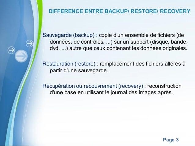 Backup Restore Recovery Slide 3