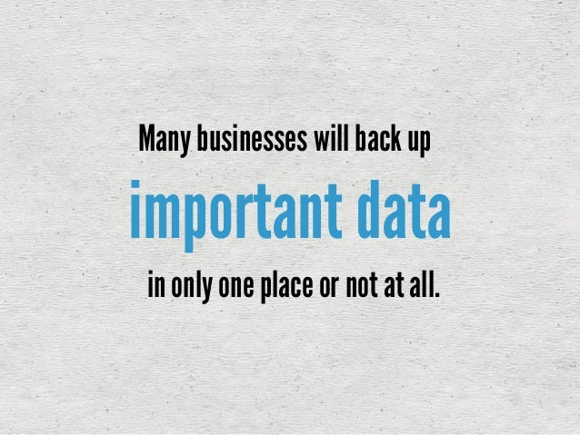 The Importance of Business Data Backups