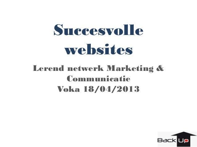 Backup - Voka presentatie succesvolle websites
