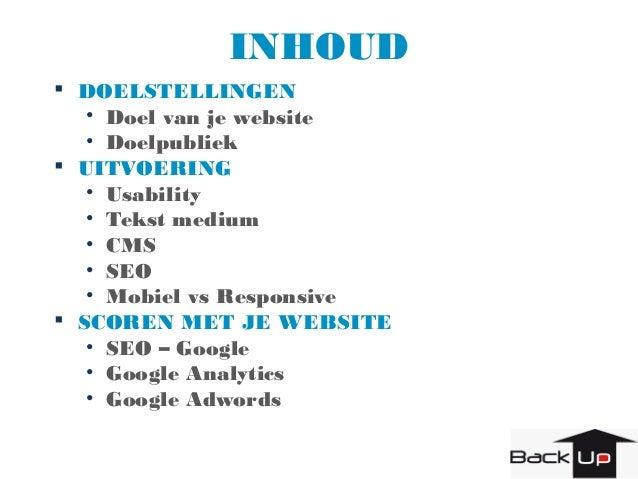 Backup - Voka presentatie succesvolle websites Slide 2