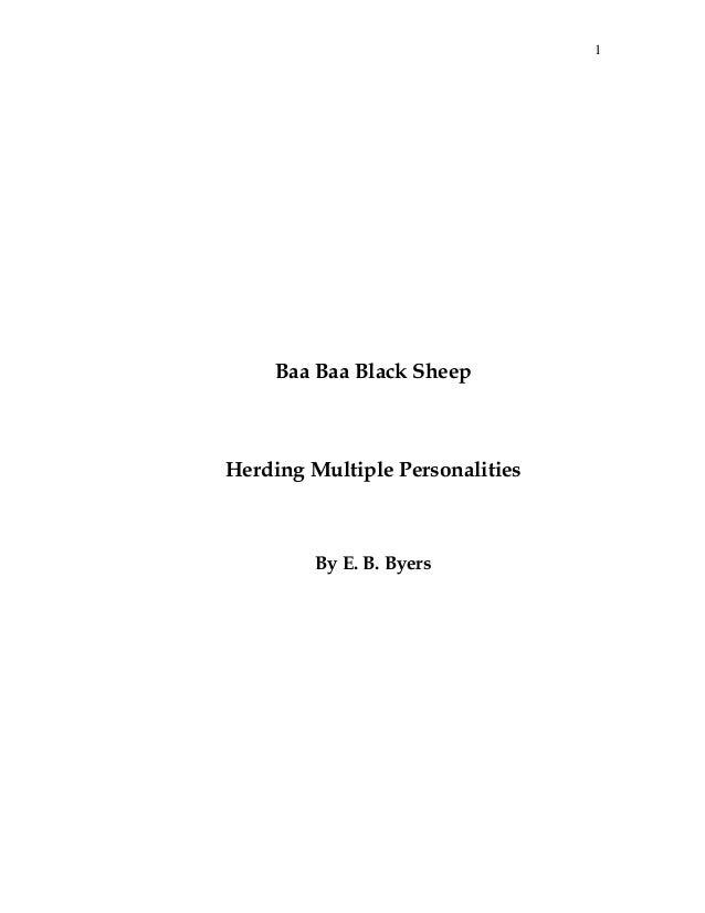 1 Baa Baa Black Sheep Herding Multiple Personalities By E. B. Byers