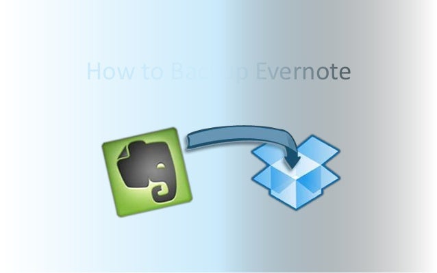 How to Backup Evernote