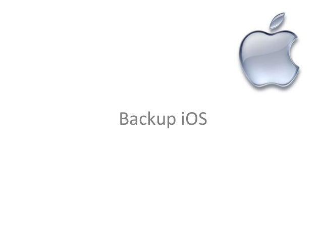 Backup iOS