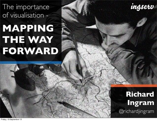 MAPPING THE WAY FORWARD The importance of visualisation - Richard Ingram @richardjingram Friday, 13 September 13