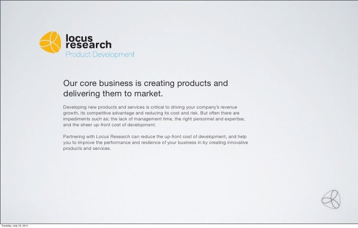 Original Product Development                         Our core business is creating products and                         de...
