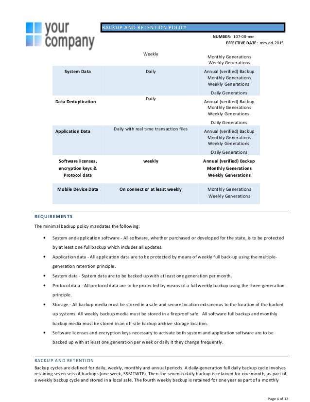 Backup policy template julie bozzi oregon 4 backup and retention policy pronofoot35fo Gallery