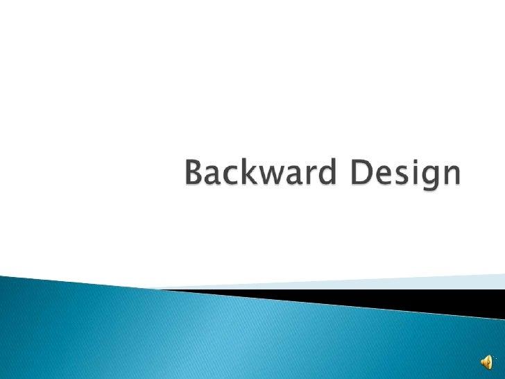 Backward Design<br />
