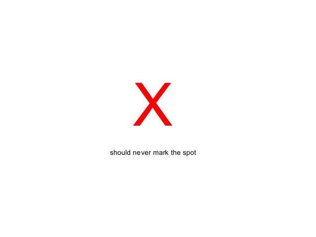 Xshould never mark the spot