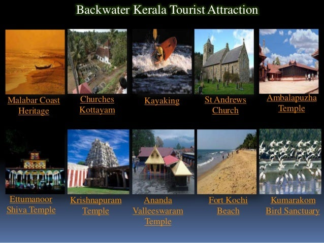 Backwater Kerala Tourist AttractionMalabar Coast     Churches       Kayaking     St Andrews   Ambalapuzha  Heritage       ...