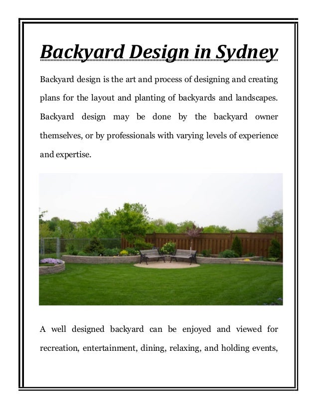 Backyard design sydney for Landscape architecture courses sydney