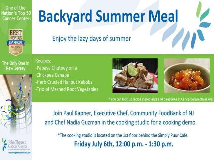 Fun Food Friday- Summer Meal