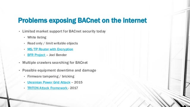 Bacnet on the internet - BACnet User Group New England