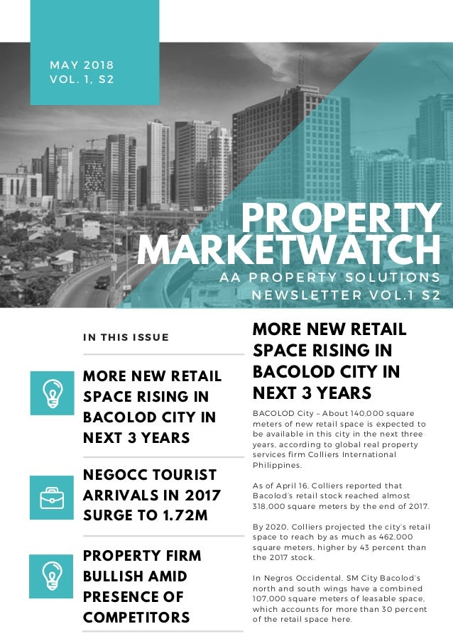 BACOLOD City – About 140,000 square meters of new retail space is expected to be available in this city in the next three ...