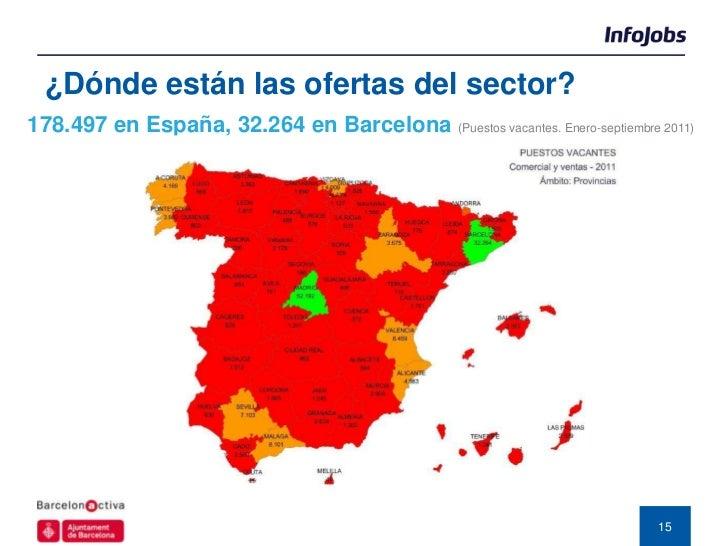 ¿Dónde están las ofertas del sector?178.497 en España, 32.264 en Barcelona   (Puestos vacantes. Enero-septiembre 2011)    ...