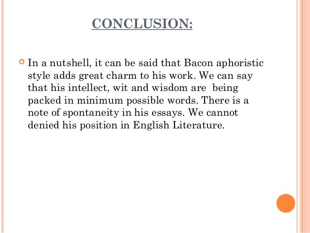 great english essays from bacon to chesterton Fifty great essays collects one-hundred of the most teachable and rewarding essays used  francis bacon, of studies james baldwin, if black english isn't a.