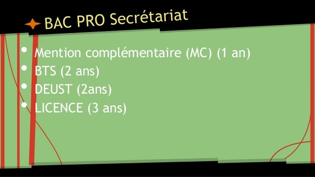 Bac pro réussir son orientation dans l'enseignement supérieur Slide 3