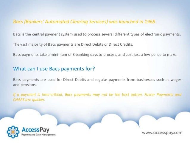 how to pay using bacs