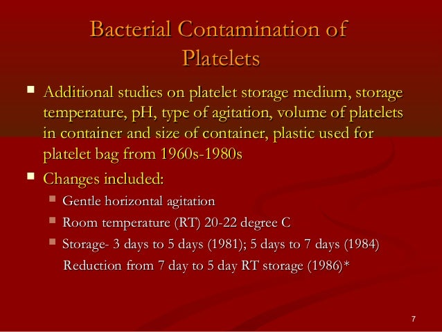 Bacterial detection of platelets