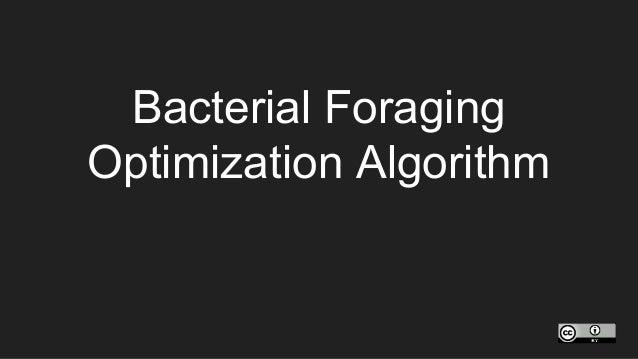 Bacterial Foraging Optimization Algorithm
