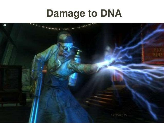 Damage to DNA 12/15/2015 36
