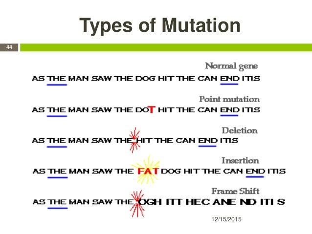 Types of Mutation 12/15/2015 44