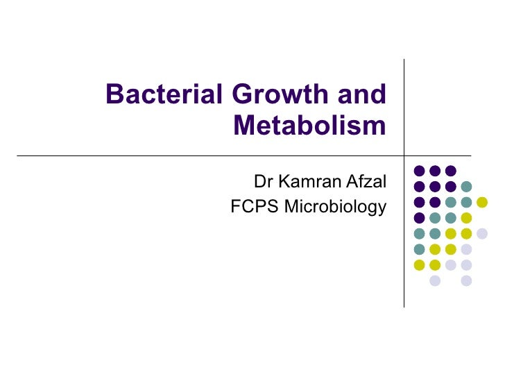 Bacterial Growth and Metabolism Dr Kamran Afzal FCPS Microbiology