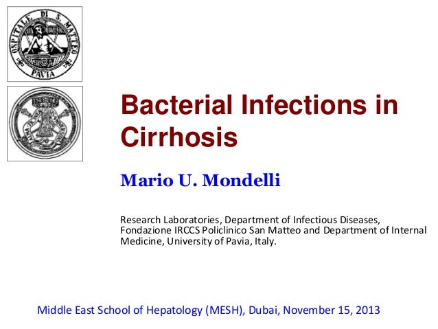 Bacterial Infections in Cirrhosis Mario U. Mondelli Research Laboratories, Department of Infectious Diseases, Fondazione I...