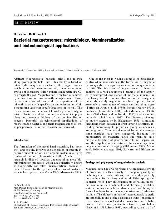 Appl Microbiol Biotechnol (1999) 52: 464±473                                                           Ó Springer-Verlag 1...
