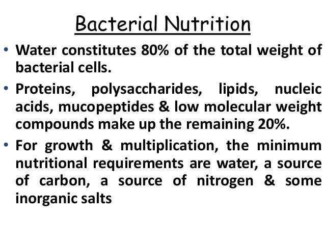 Bacterial growth and nutrition |authorstream.