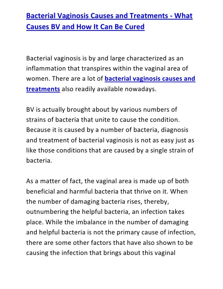 bacterial vaginosis causes and treatments - what causes bv and how it…, Human Body