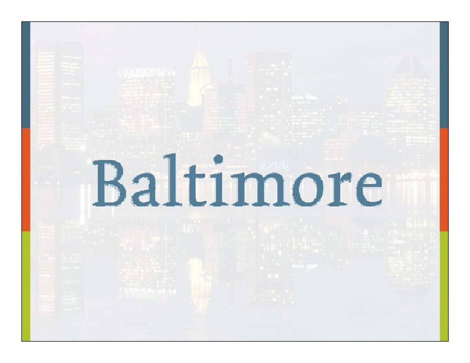 Then & Now: Baltimore History