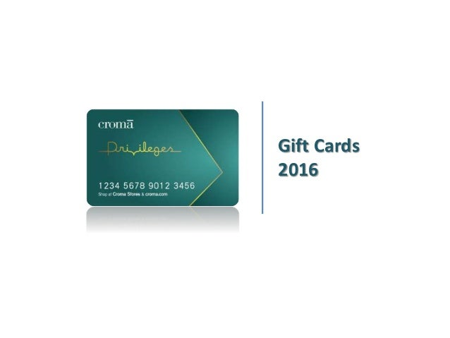 Gift Cards 2016