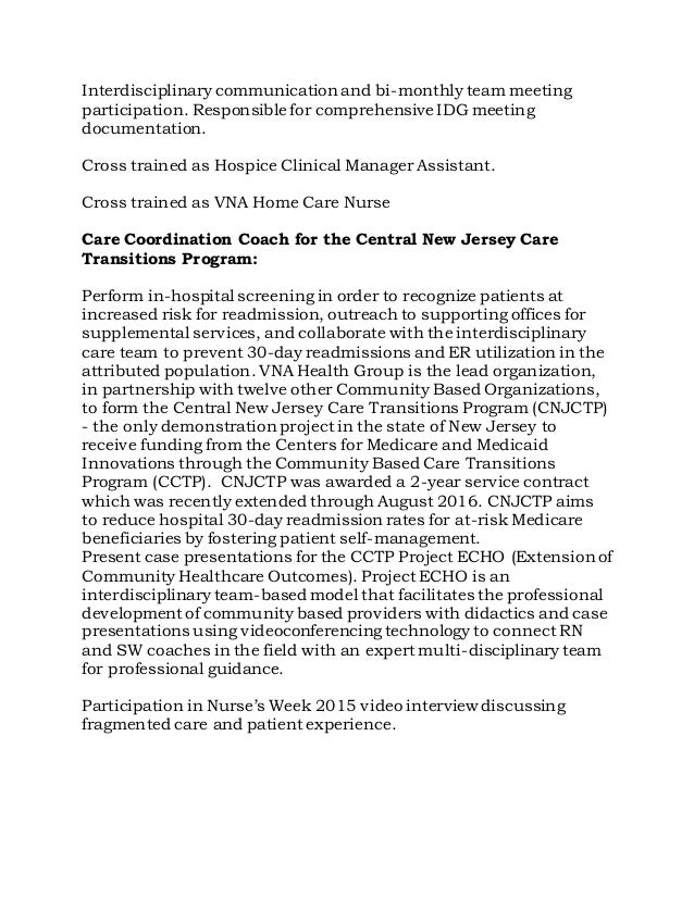 Sample Cv Clinical Nurse Manager Constescom. Hospice Rn Case