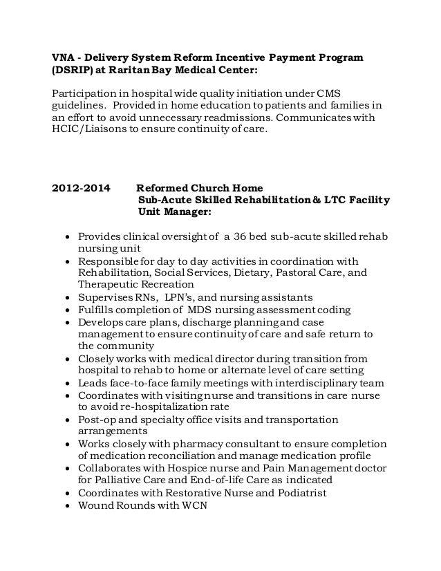 Resume HOSPICE CARMELA PERCONTRA RN MS CNS BC 82116 – Hospice Resume