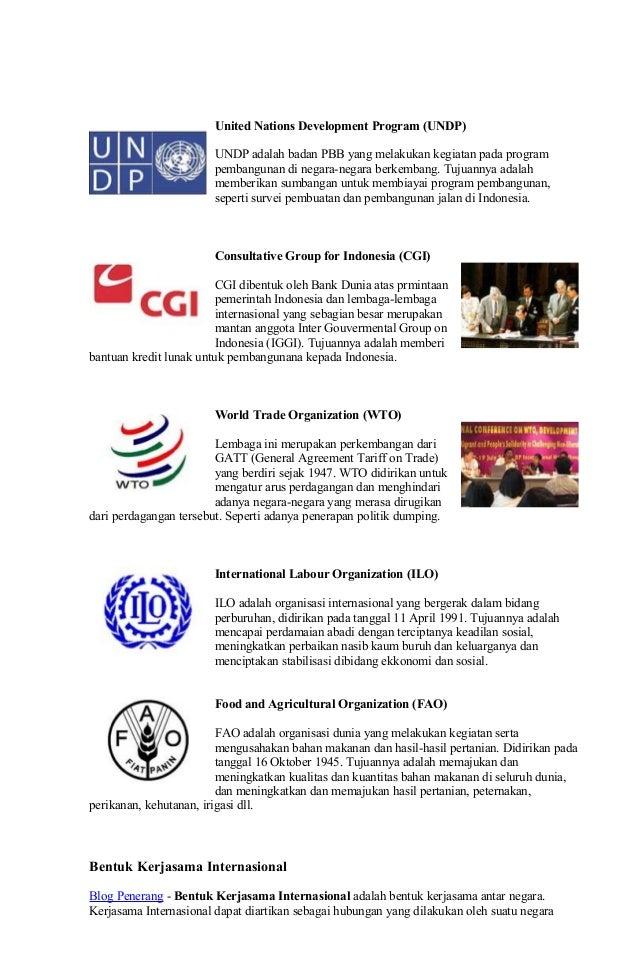 Badan kerjasama ekonomi internasional