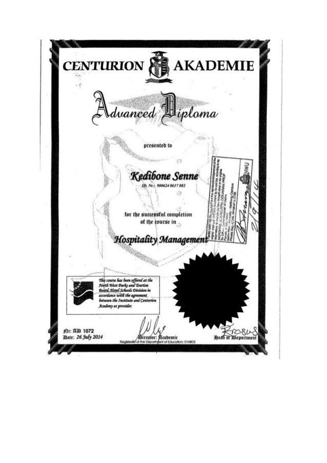certificate MHS