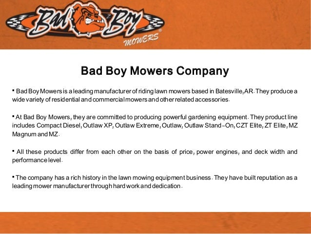 Bad Boy Mowers Is a Dependable Lawn Mowers Manufacturer
