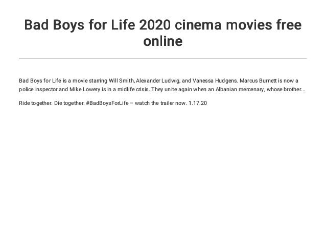 bad boys for life online movie free