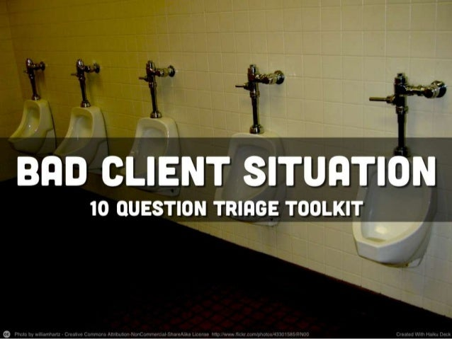 Bad Client Situation Toolkit