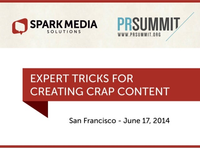 Expert Tricks for Creating Crap Content