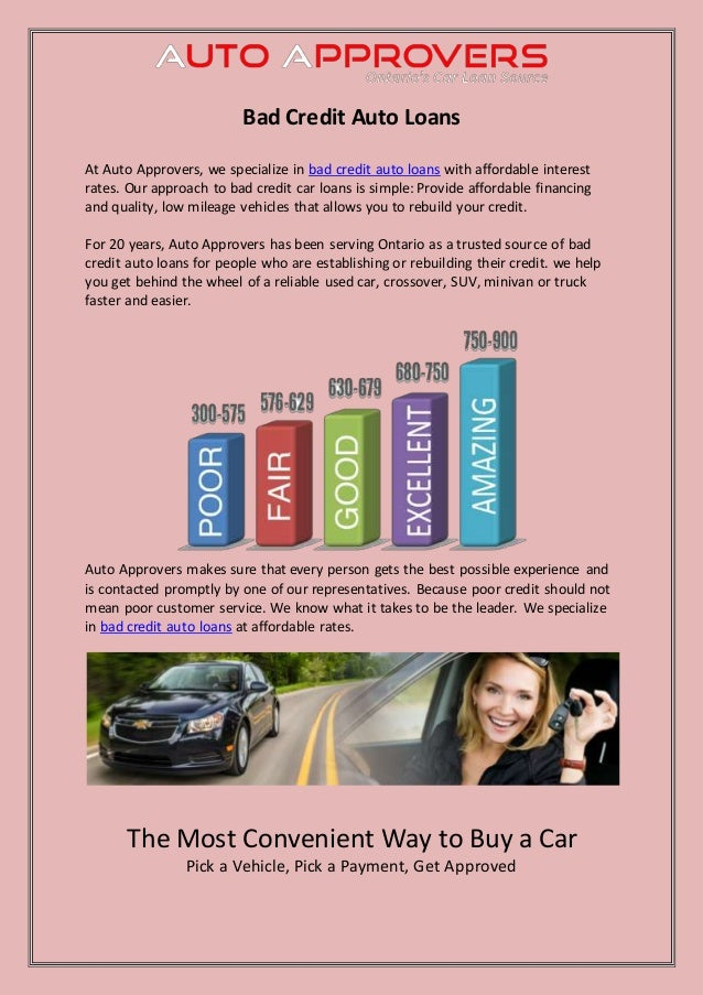 Car Loans For People With Bad Credit >> Bad Credit Auto Loans