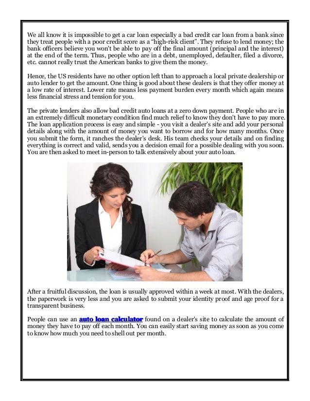 Bad Credit Car Loan Company Reviews