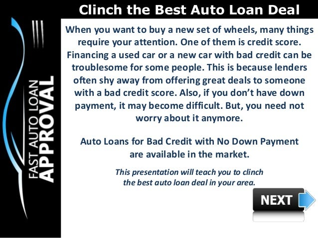 Federal Auto Loan  Auto Financing  Bad Credit Car Loans