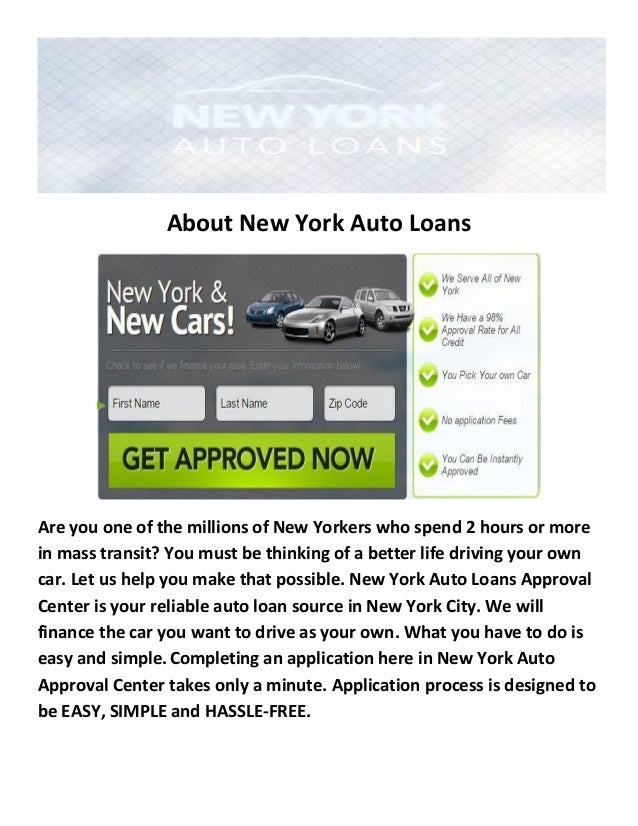 Auto Loans Bad Credit >> New York Auto Loans Bad Credit Car Loan New York