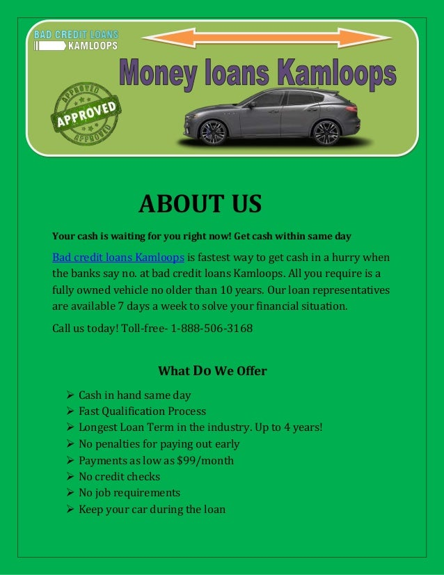 Get A Car With No Credit >> Get Car Title Loans Same Day In Kamloops And Keep Driving