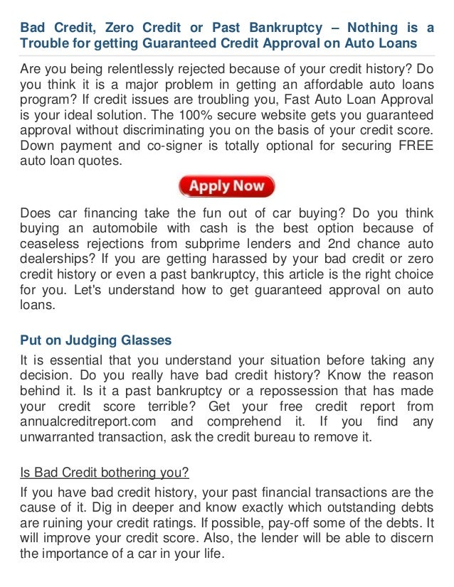 How To Ensure Guaranteed Auto Loan Approval With Credit Issues