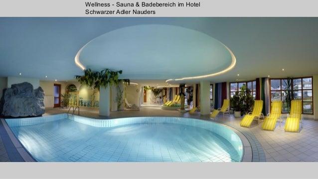 Wellness - Sauna & Badebereich im Hotel Schwarzer Adler Nauders