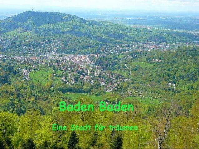 Baden Baden Eine Stadt für träumen