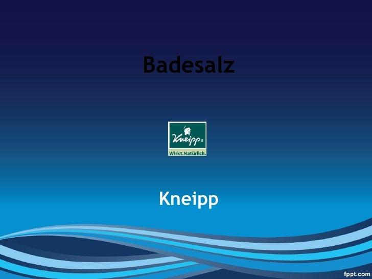 Badesalz Kneipp
