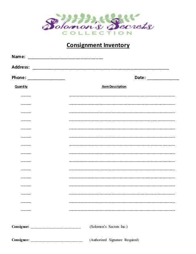 Consignment Inventory Form Heartpulsar